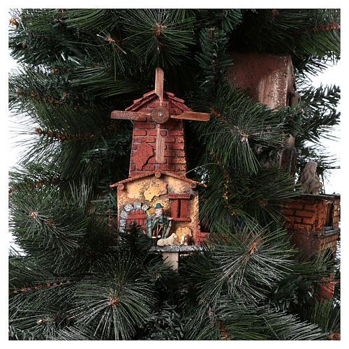 Presépio-Árvore de Natal 150 cm figuras altura média 8 cm Presépio Napolitano 11