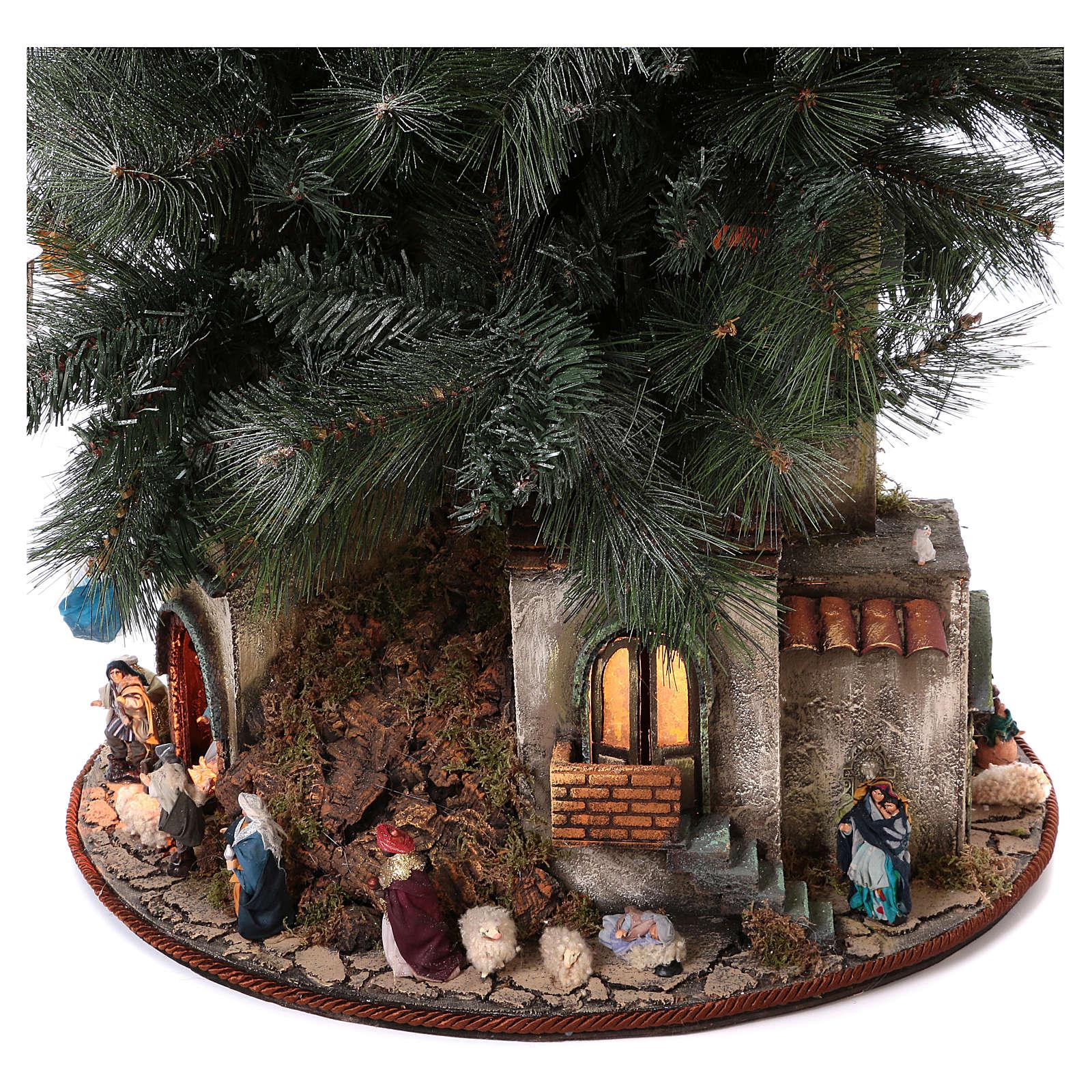 Nativity Tree 150 cm with statues, 8 cm Neapolitan nativity 4