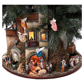 Nativity Tree 150 cm with statues, 8 cm Neapolitan nativity s2