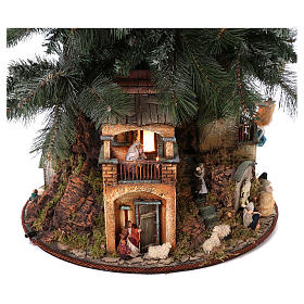 Nativity Tree 150 cm with statues, 8 cm Neapolitan nativity s4