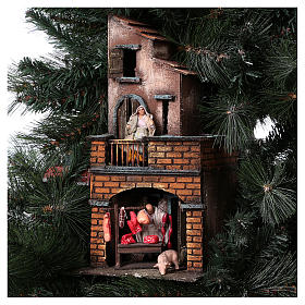 Nativity Tree 150 cm with statues, 8 cm Neapolitan nativity s9