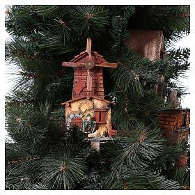 Nativity Tree 150 cm with statues, 8 cm Neapolitan nativity s11