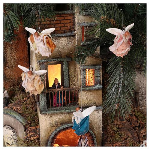 Nativity Tree 150 cm with statues, 8 cm Neapolitan nativity 8
