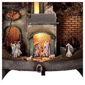 Torchio vinario 85x45 cm completo di statuine 6 cm presepe napoletano s2