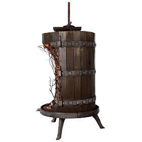 Torchio vinario 85x45 cm completo di statuine 6 cm presepe napoletano s7