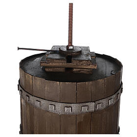 Torchio vinario 85x45 cm completo di statuine 6 cm presepe napoletano s9