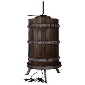 Torchio vinario 85x45 cm completo di statuine 6 cm presepe napoletano s10