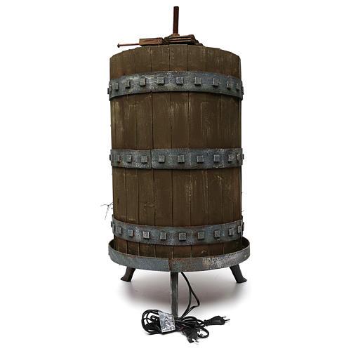 Torchio vinario 85x45 cm completo di statuine 6 cm presepe napoletano 4