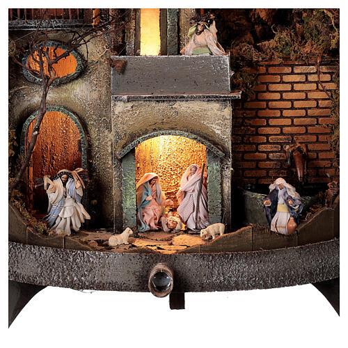 Torchio vinario 85x45 cm completo di statuine 6 cm presepe napoletano 2