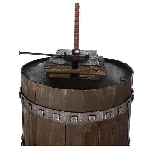 Torchio vinario 85x45 cm completo di statuine 6 cm presepe napoletano 9