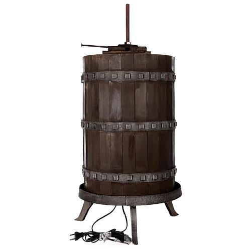 Torchio vinario 85x45 cm completo di statuine 6 cm presepe napoletano 10