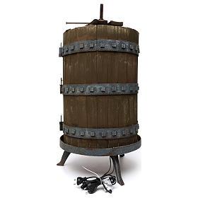 Prensa para vino iluminada 85x45 cm belén iluminado para estatuas 6 cm s4