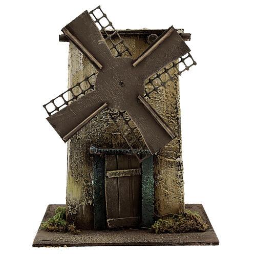 Neapolitan Nativity scene, moving windmill 25x15x25 cm 1