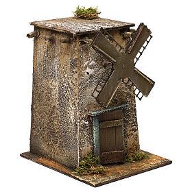 Neapolitan Nativity scene, windmill with square base 20x15x20 cm s3