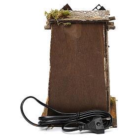 Mulino a vento in legno quadrato 20x15x20 cm presepe napoletano s4