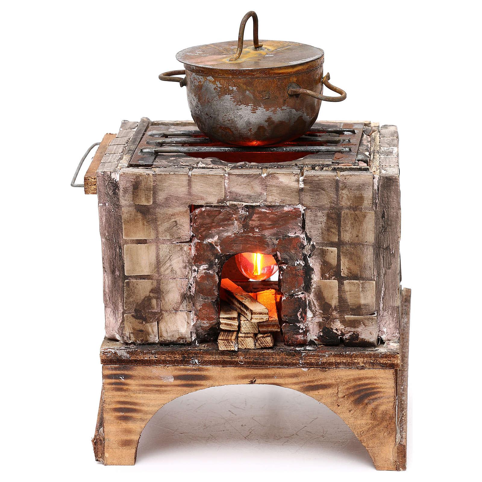 Forno a legna presepe napoletano per statue 18/22 cm 4
