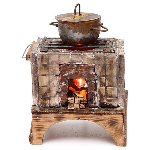 Forno a legna presepe napoletano per statue 18/22 cm 1
