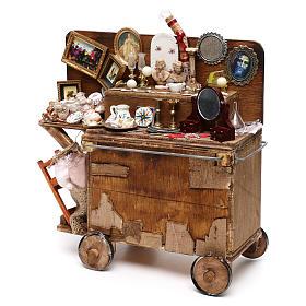 Neapolitan Nativity scene, secondhand dealer cart 18-22 cm s5