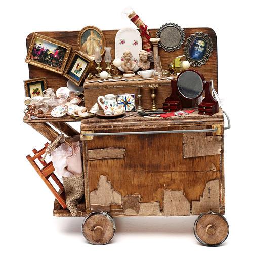 Neapolitan Nativity scene, secondhand dealer cart 18-22 cm 1