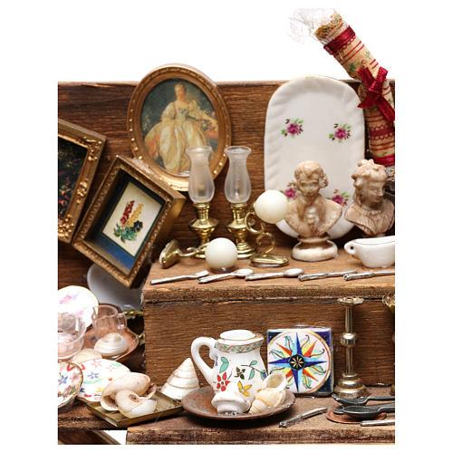 Neapolitan Nativity scene, secondhand dealer cart 18-22 cm 2