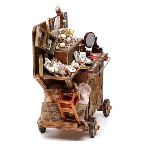 Neapolitan Nativity scene, secondhand dealer cart 18-22 cm 6