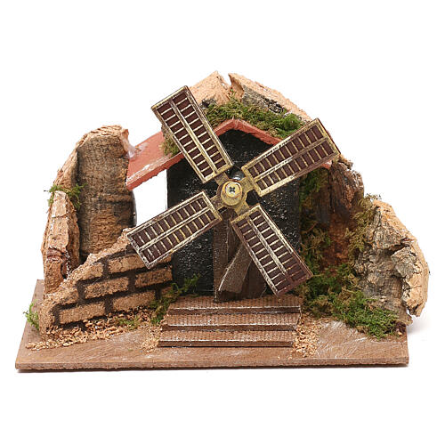 Moving windmill statue 10x15x10 cm, for 7 cm nativity 1