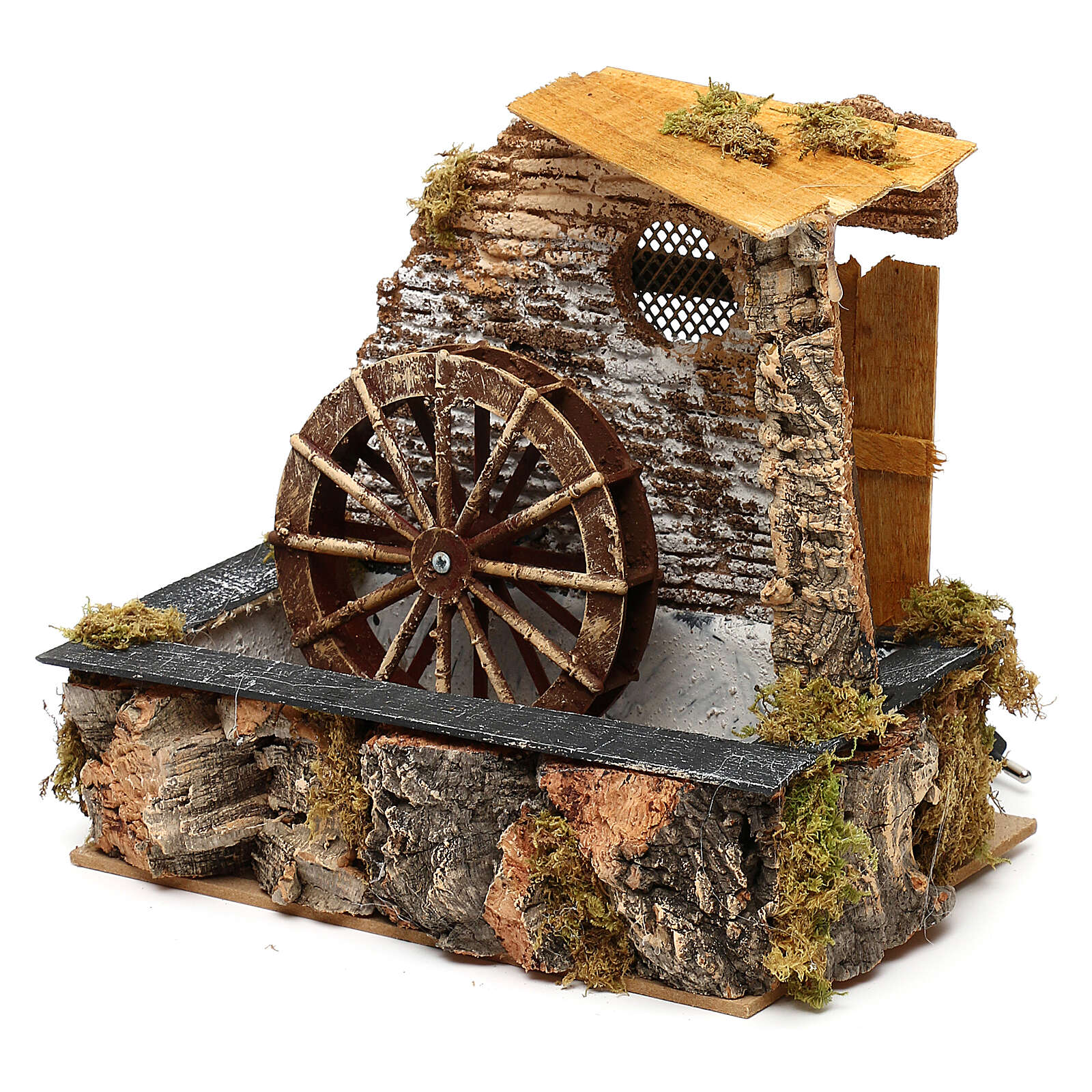 Watermill with working pump, for 13 cm nativity 4