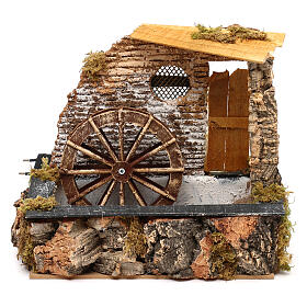Watermill with working pump, for 13 cm nativity s1