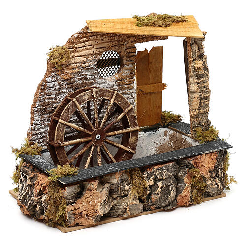 Watermill with working pump, for 13 cm nativity 2