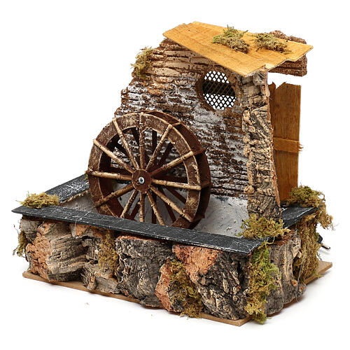 Watermill with working pump, for 13 cm nativity 3