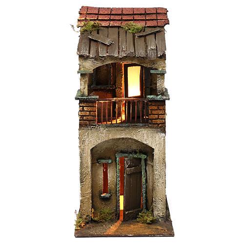 Casita dos pisos balcón 35x15x20 cm 1