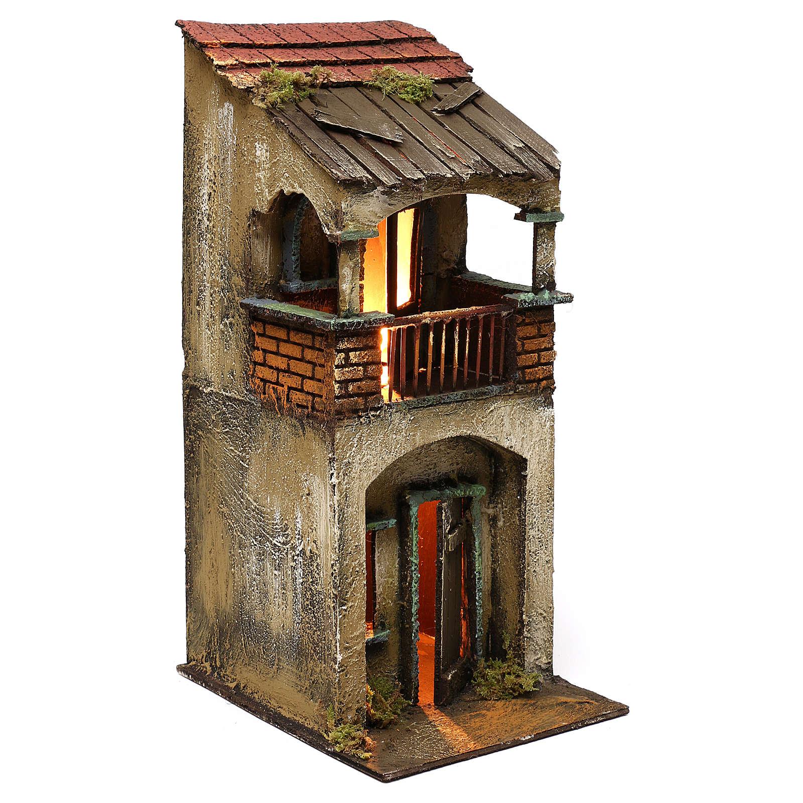 Casetta due piani balcone 35x15x20 cm 4