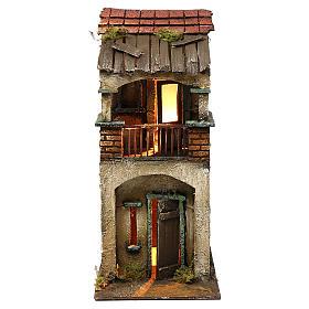 Presépio Napolitano: Casinha dois andares balcão 35x15x20 cm