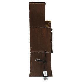 Caseggiato in legno tre piani presepe napoletano 50x15x20 cm s4