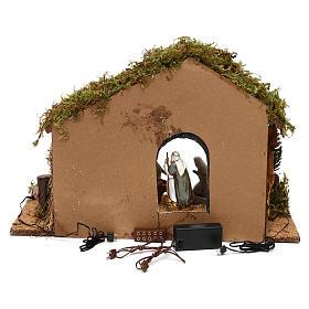 Cabaña con puerta escena nocturna belén 10 cm Moranduzzo s4