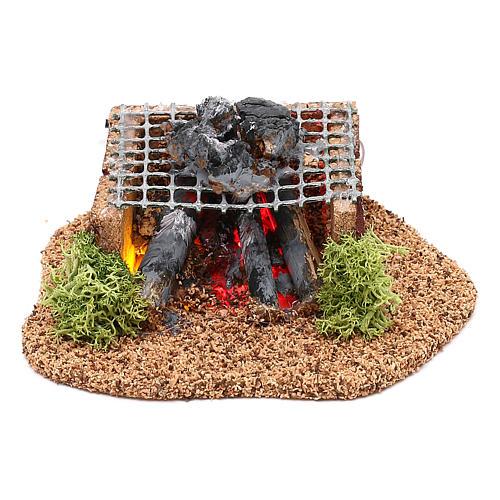 Cabaña con henil fuente y natividad belén 10 cm 5