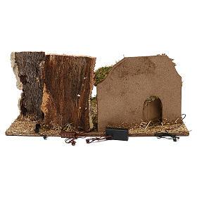 Cabane avec arbres crèche 10 cm s3