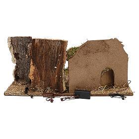 Cabane avec arbres crèche 10 cm s4