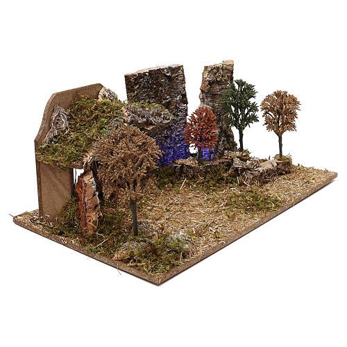 Cabane avec arbres crèche 10 cm 3