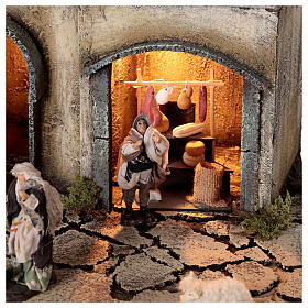 Neapolitan nativity village with 8 cm figures 55x40x40 module 1 s2
