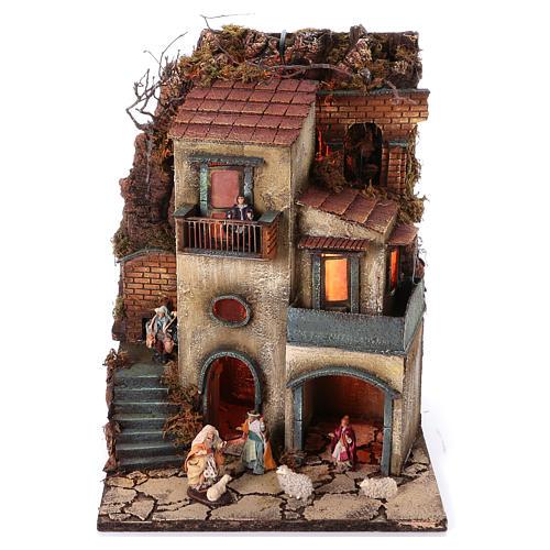 Borgo presepe napoletano 55x40x40 cm modulo 1 1