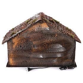 Cabaña con Natividad de madera 22 cm belén napolitano 45x65x35 cm s4