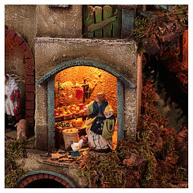 Circular tower with Nativity figures 90x60 cm s4