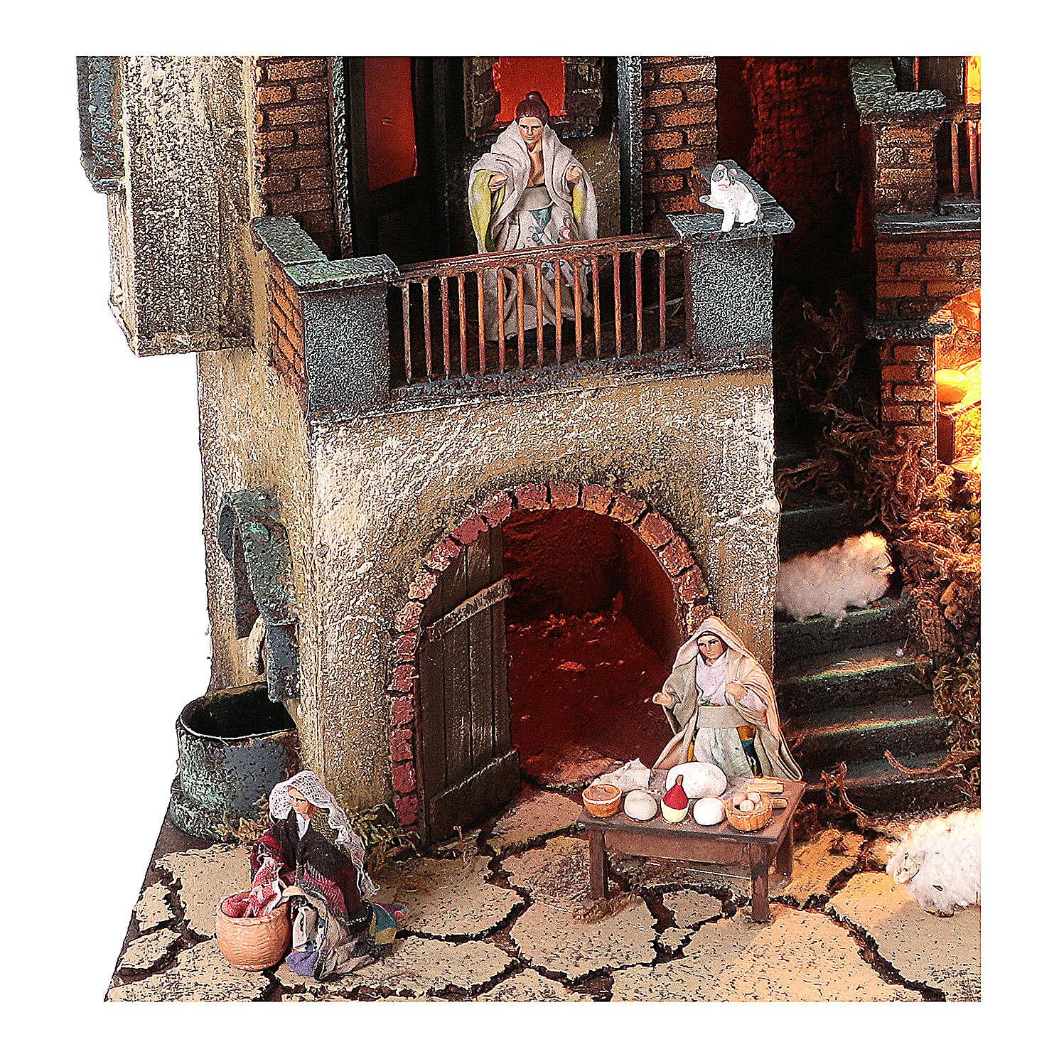 Borgo presepe modulare completo 55x245x40 per statuine di 8 cm 4