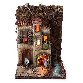 Borgo presepe modulare completo 55x245x40 per statuine di 8 cm s3