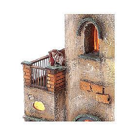 Borgo presepe modulare completo 55x245x40 per statuine di 8 cm s10