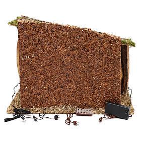 Cabane bois liège et mousse 30x40x30 cm s4