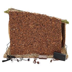 Capanna legno sughero e muschio 30x40x30 cm s4