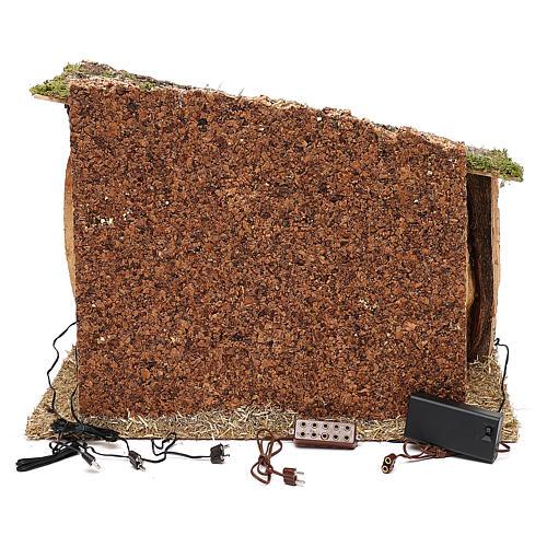 Capanna legno sughero e muschio 30x40x30 cm 4