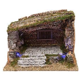 Cabanas e Grutas para Presépio: Cabana madeira cortiça e musgo 30x40x30 cm